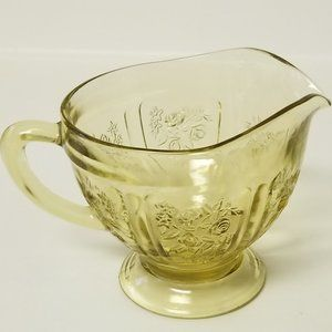 creamer amber depression glass